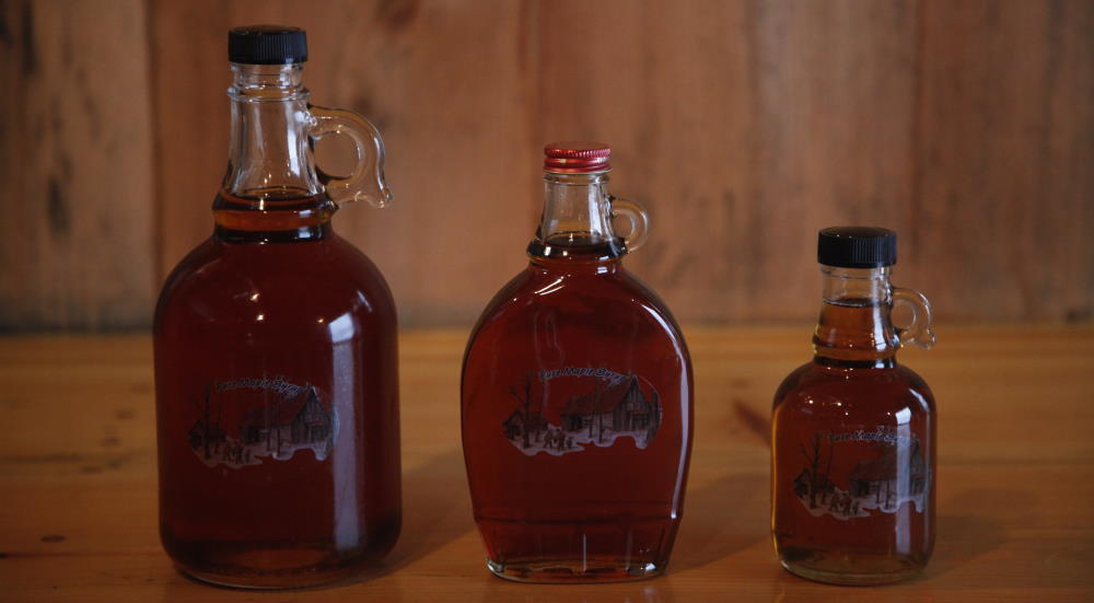 maple syrup glass jugs